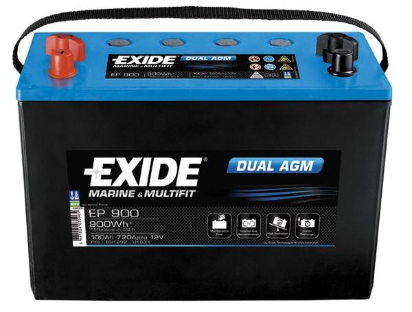 Bateria Exide Dual Agm Ep 900